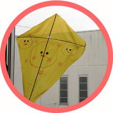 そあとの庭ワークショップ凧を作ろう